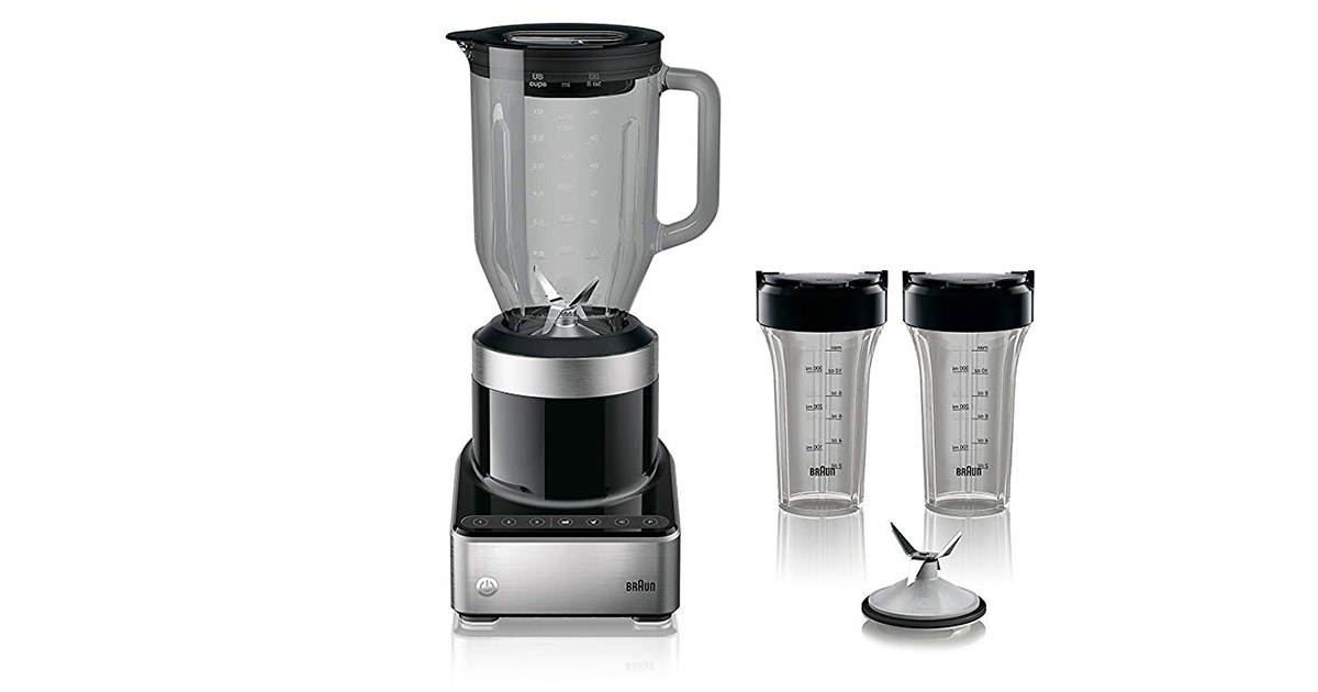 Braun JB7352 BKS PureMix Power Countertop Black Blender image