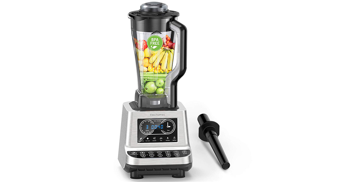 Elechomes CHS2001 Countertop Commercial Heavy Duty Smoothie Blender image