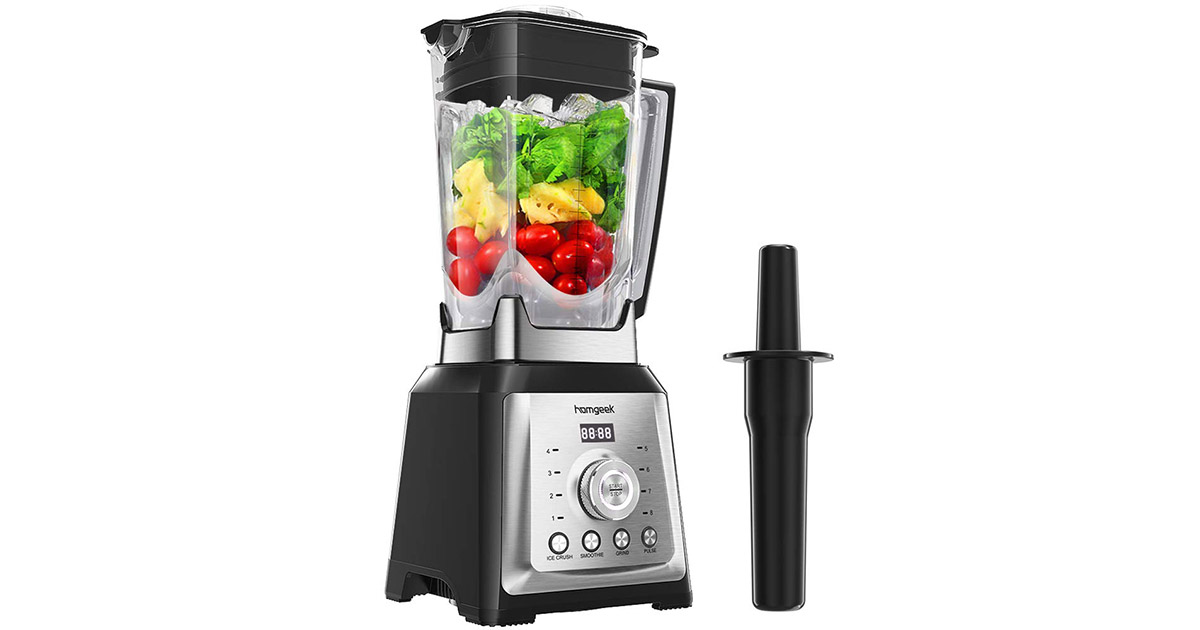 Homgeek H22259US High Speed Professional Countertop Smoothie Blender image