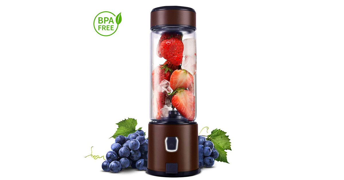 Kacsoo SPOW S630 Portable Glass Smoothie USB Rechargeable Personal Coffee Blender image
