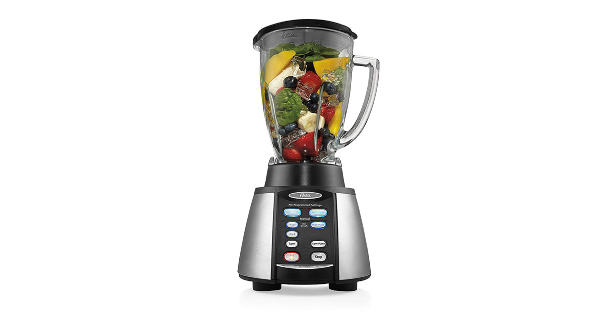Oster BVCB07-Z00-NP0 Reverse Crush Counterforms Brushed Stainless Steel Black Finish Blender image
