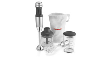KitchenAid KHB2351CU 3 Speed Contour Silver Hand Blender image